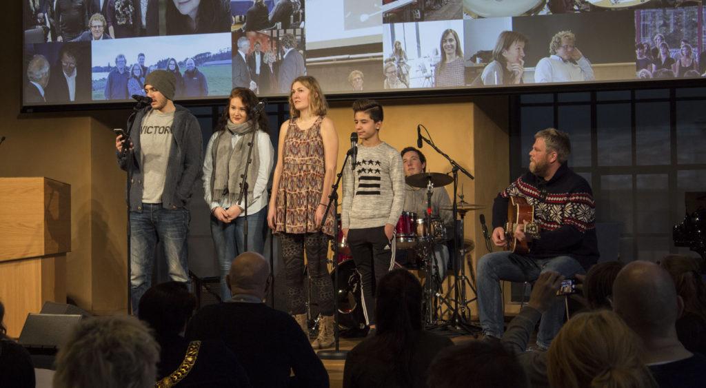 Ungdommer fra grupen Kom Nærmere. Foto: Rune Rolvsjord.