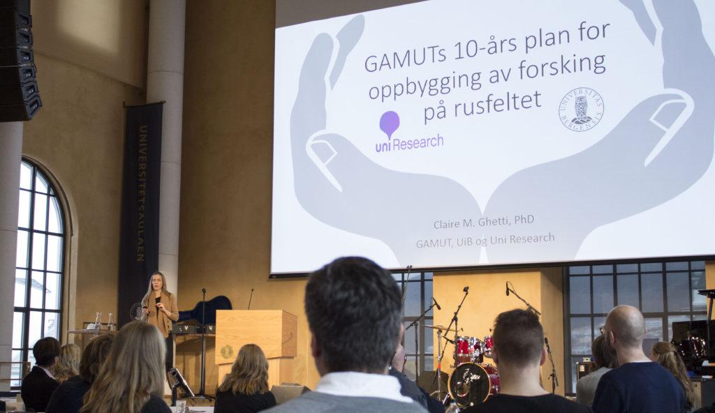 Claire Ghetti GAMUT, UiB. Foto: Rune Rolvsjord.
